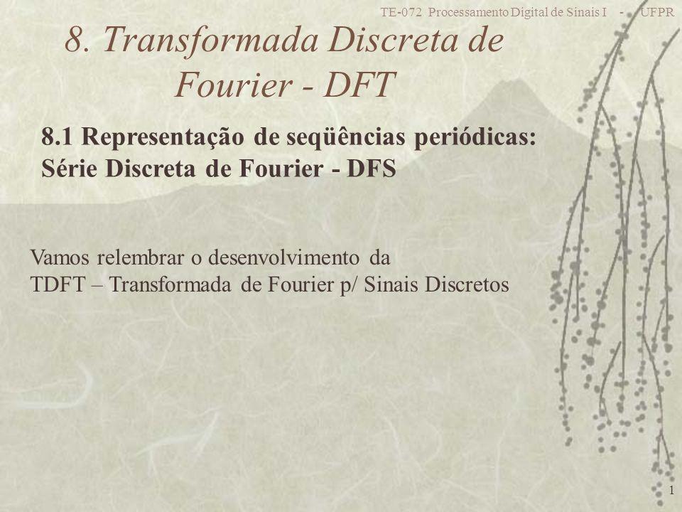TE-072 Processamento Digital de Sinais I - UFPR 1 8. Transformada Discreta de Fourier - DFT 8.1 Representação de seqüências periódicas: Série Discreta