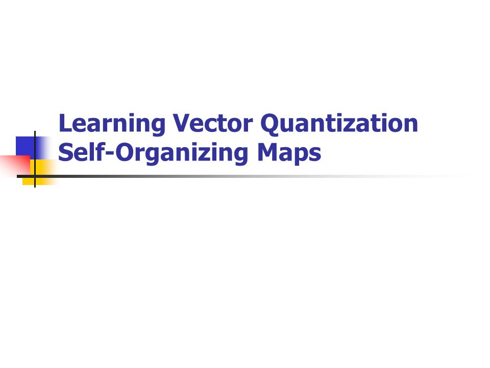 Learning Vector Quantization Self-Organizing Maps