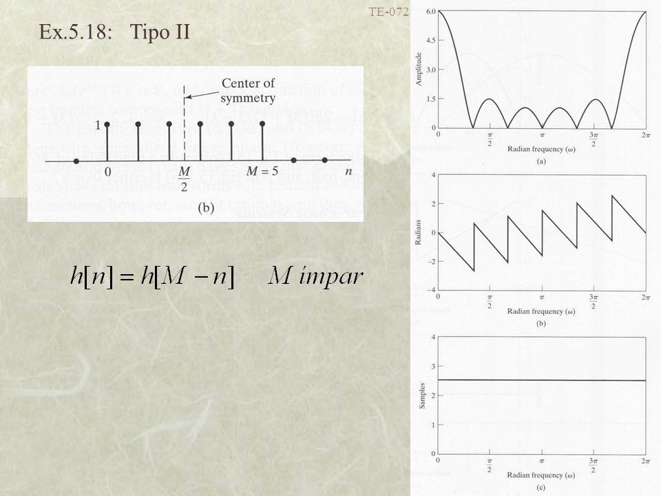 TE-072 Processamento Digital de Sinais I - UFPR 45 Ex.5.18: Tipo II