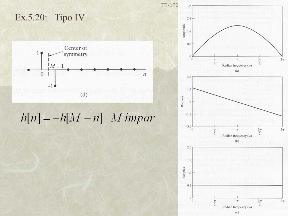 TE-072 Processamento Digital de Sinais I - UFPR 47 Ex.5.20: Tipo IV