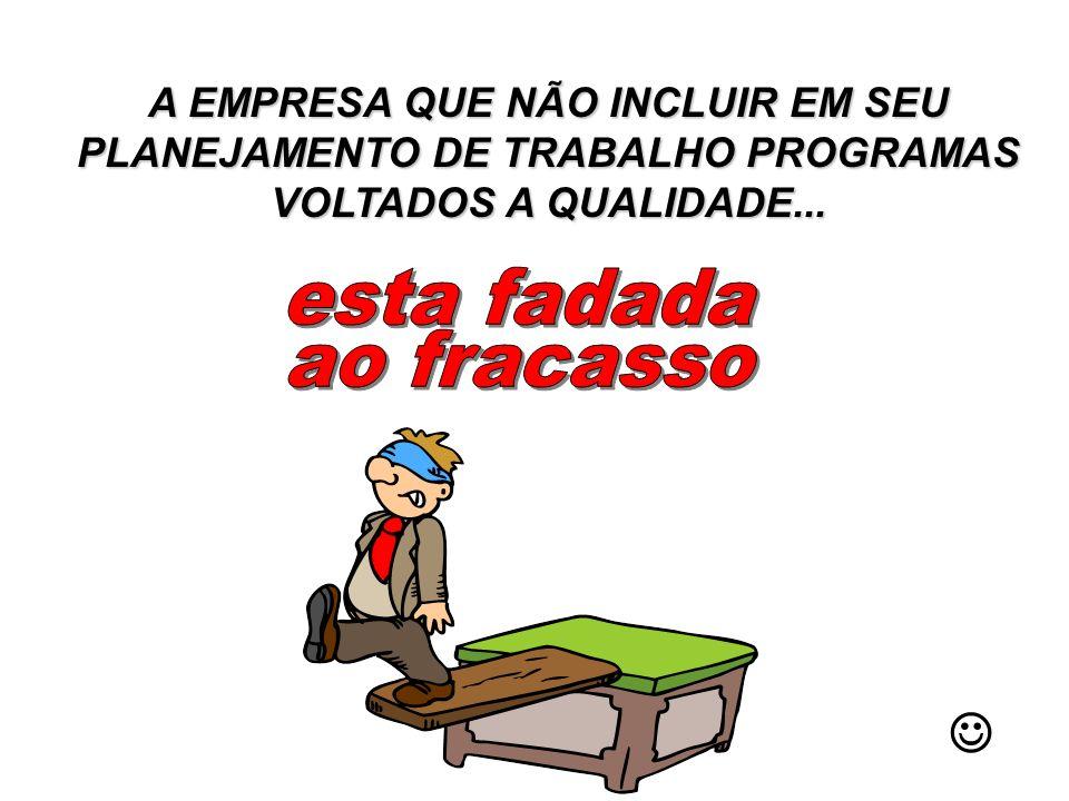 A EMPRESA QUE NÃO INCLUIR EM SEU PLANEJAMENTO DE TRABALHO PROGRAMAS VOLTADOS A QUALIDADE...