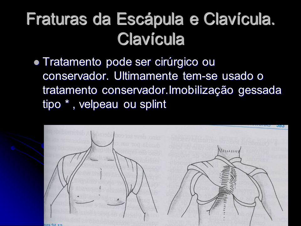 Fraturas da Escápula e Clavícula.