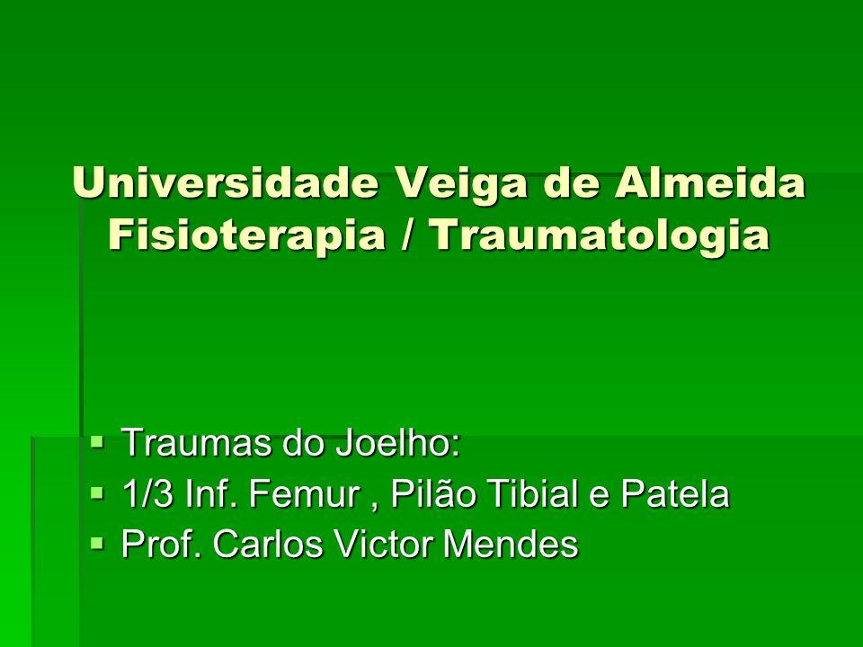 FRATURAS DO JOELHO PLANALTO TIBIAL Diagnóstico Clínico: Diagnóstico Clínico: Joelho edemaciado, doloroso, hemartrose, mesmo nos casos de deformidades.