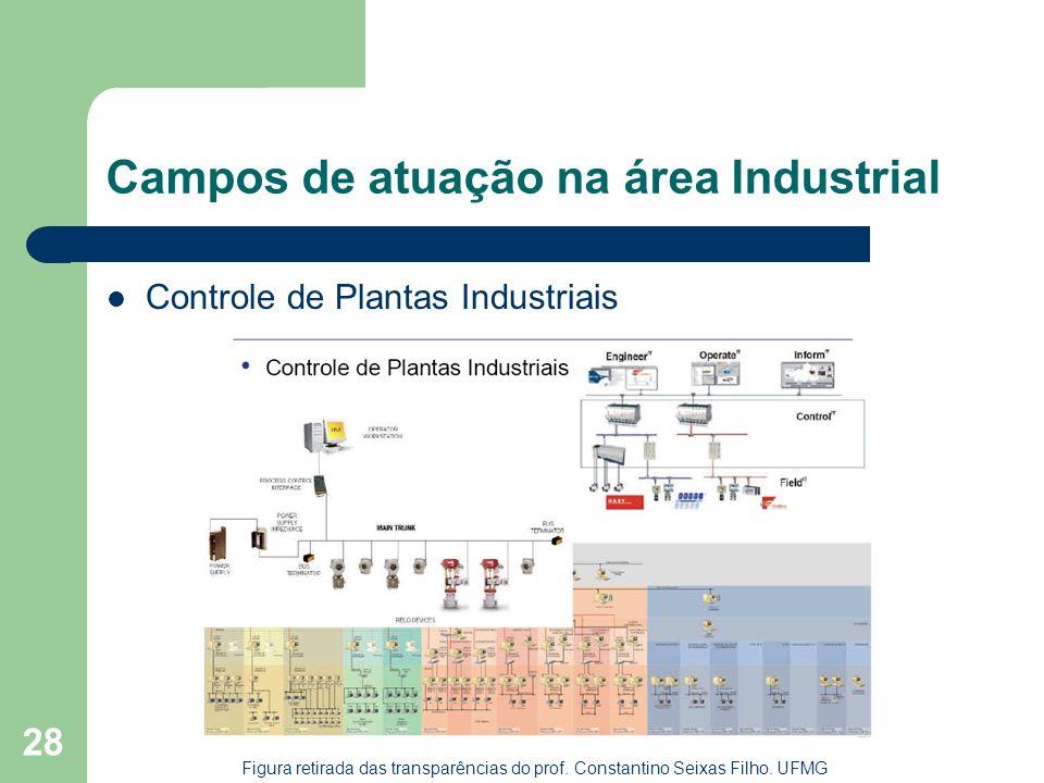 28 Campos de atuação na área Industrial Controle de Plantas Industriais Figura retirada das transparências do prof. Constantino Seixas Filho. UFMG