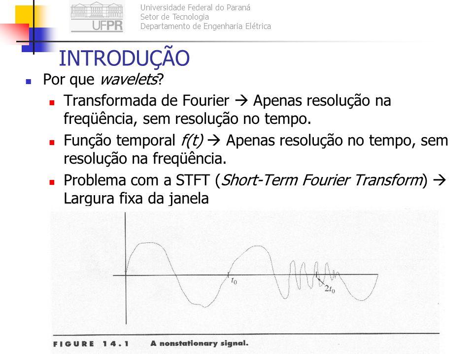 Universidade Federal do Paraná Setor de Tecnologia Departamento de Engenharia Elétrica TE073 – Processamento Digital de Sinais II105 INTRODUÇÃO Por qu