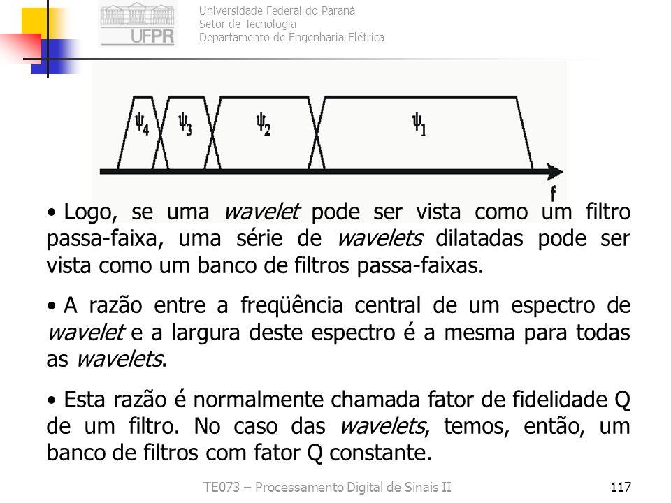 Universidade Federal do Paraná Setor de Tecnologia Departamento de Engenharia Elétrica TE073 – Processamento Digital de Sinais II117 Logo, se uma wave