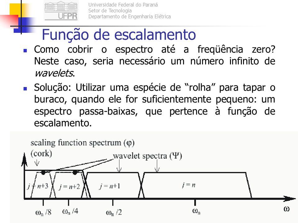 Universidade Federal do Paraná Setor de Tecnologia Departamento de Engenharia Elétrica TE073 – Processamento Digital de Sinais II118 Função de escalam