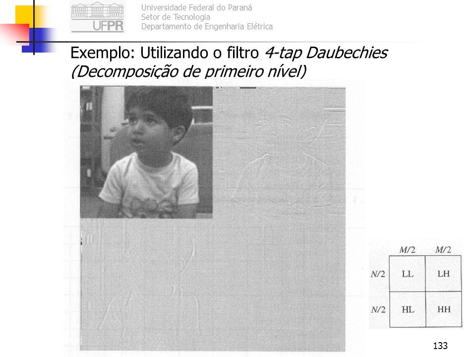 Universidade Federal do Paraná Setor de Tecnologia Departamento de Engenharia Elétrica TE073 – Processamento Digital de Sinais II133 Exemplo: Utilizan