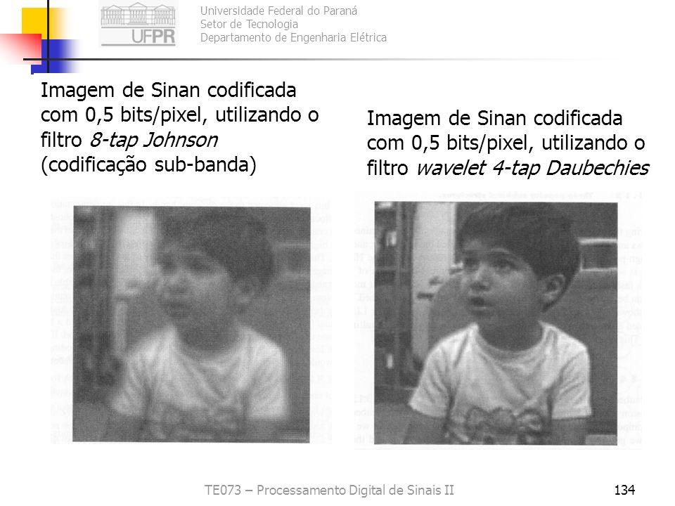 Universidade Federal do Paraná Setor de Tecnologia Departamento de Engenharia Elétrica TE073 – Processamento Digital de Sinais II134 Imagem de Sinan c