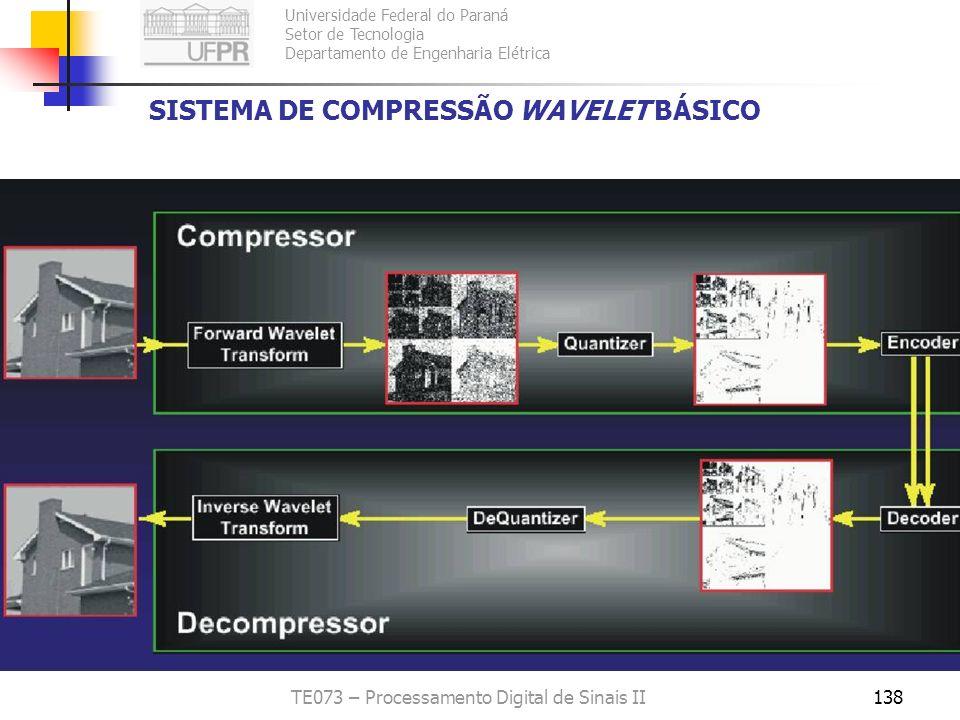 Universidade Federal do Paraná Setor de Tecnologia Departamento de Engenharia Elétrica TE073 – Processamento Digital de Sinais II138 SISTEMA DE COMPRE