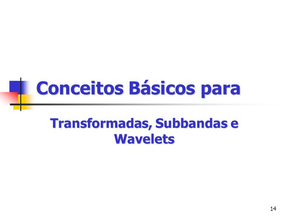 14 Conceitos Básicos para Transformadas, Subbandas e Wavelets