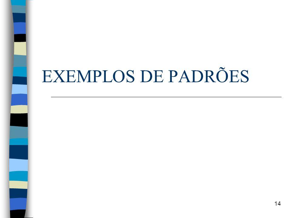 14 EXEMPLOS DE PADRÕES