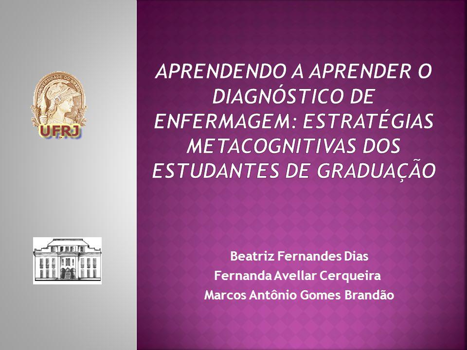 Beatriz Fernandes Dias Fernanda Avellar Cerqueira Marcos Antônio Gomes Brandão