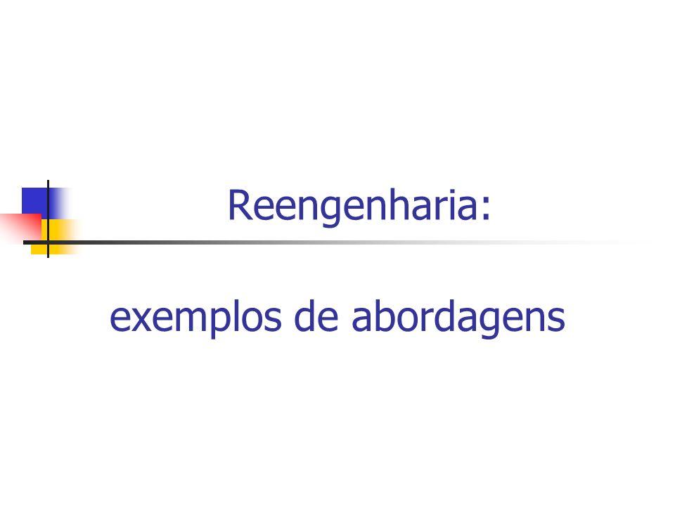 Reengenharia: exemplos de abordagens