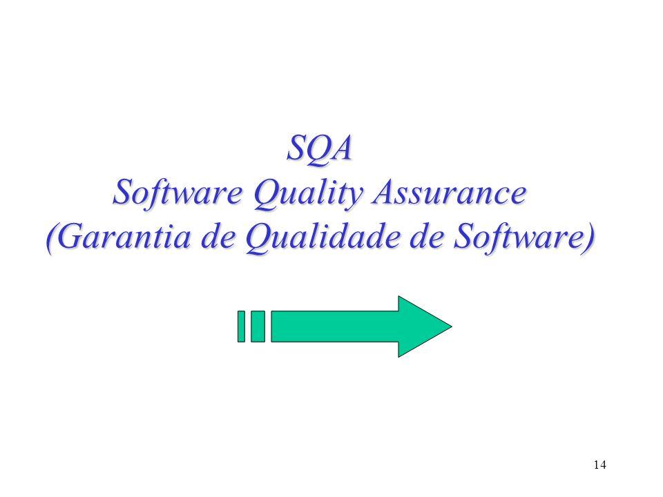 14 SQA Software Quality Assurance (Garantia de Qualidade de Software)
