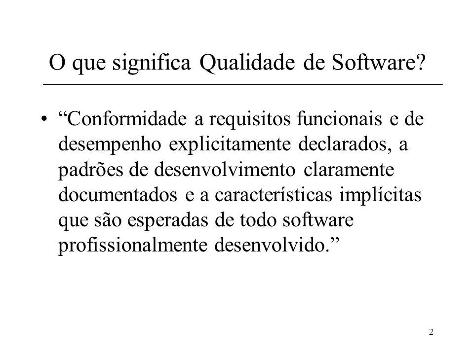 2 O que significa Qualidade de Software.