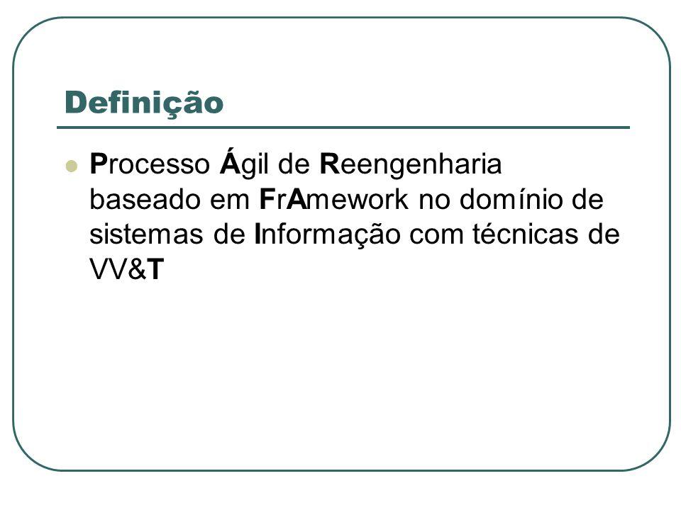 Definição Processo Ágil de Reengenharia baseado em FrAmework no domínio de sistemas de Informação com técnicas de VV&T