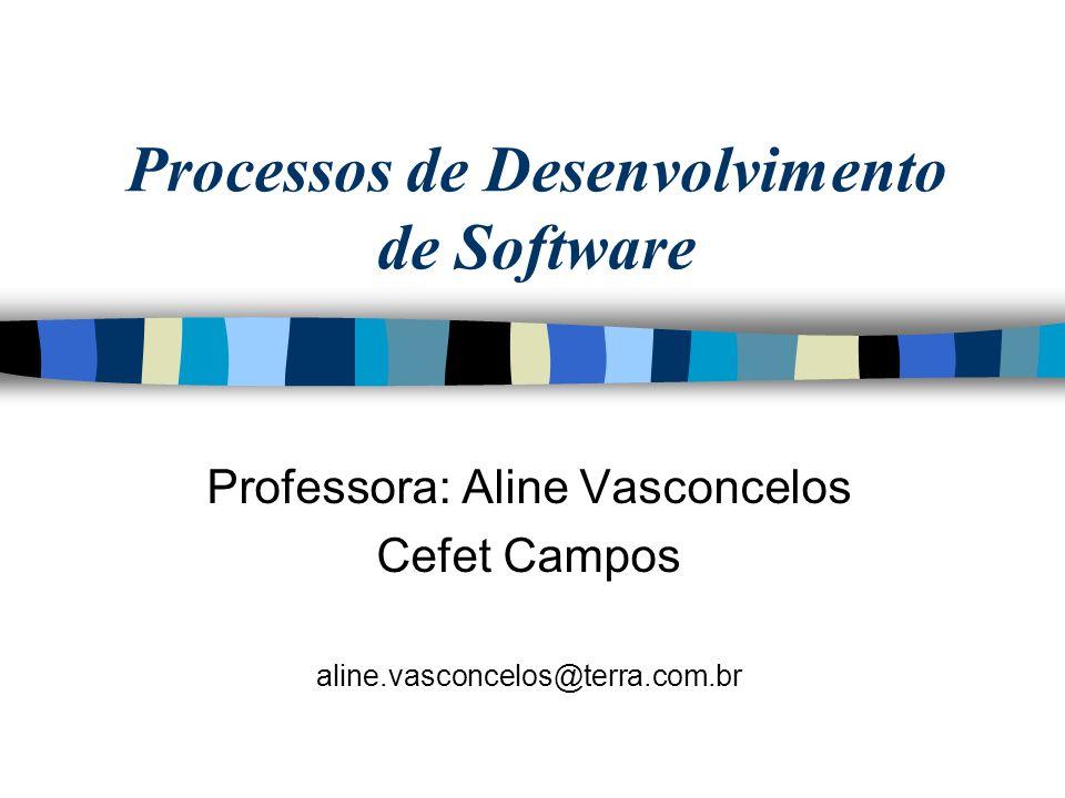 Processos de Desenvolvimento de Software Professora: Aline Vasconcelos Cefet Campos aline.vasconcelos@terra.com.br