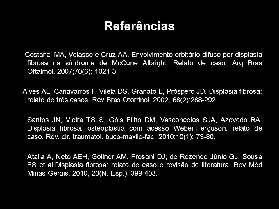 Referências Costanzi MA, Velasco e Cruz AA.