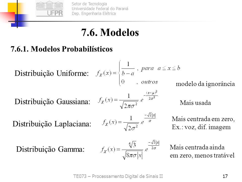 Setor de Tecnologia Universidade Federal do Paraná Dep. Engenharia Elétrica TE073 – Processamento Digital de Sinais II16 Problema: Para sinais reais é