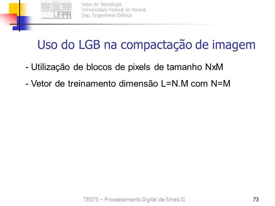 Setor de Tecnologia Universidade Federal do Paraná Dep. Engenharia Elétrica TE073 – Processamento Digital de Sinais II72 Problema que pode aparecer no