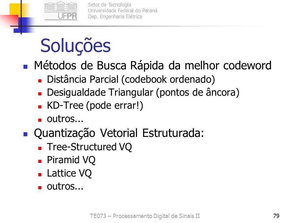Setor de Tecnologia Universidade Federal do Paraná Dep. Engenharia Elétrica TE073 – Processamento Digital de Sinais II78 Problemas da Quantização Veto
