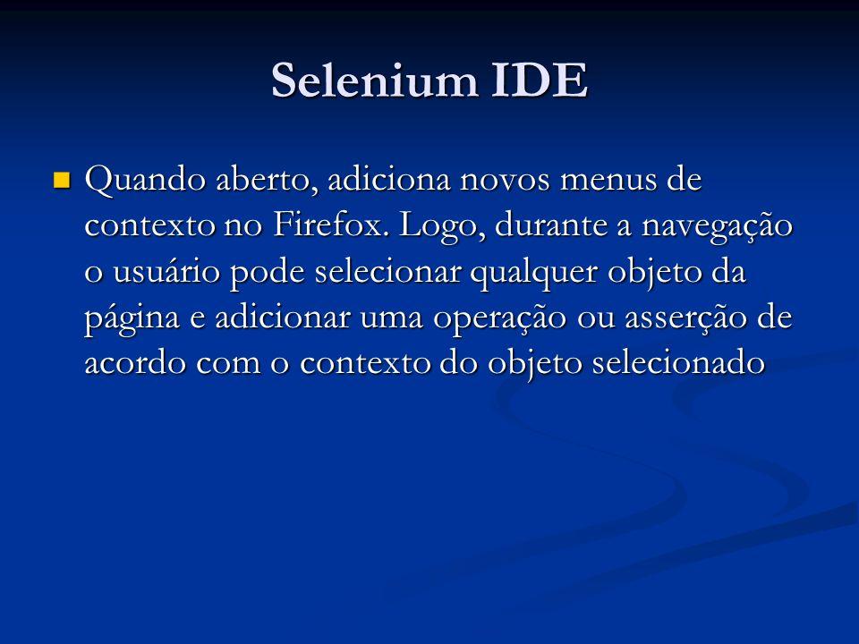 Quando aberto, adiciona novos menus de contexto no Firefox. Logo, durante a navegação o usuário pode selecionar qualquer objeto da página e adicionar