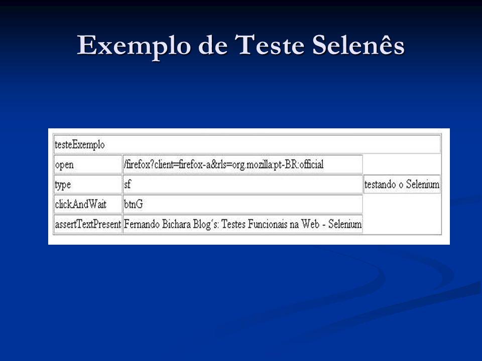 Exemplo de Teste Selenês