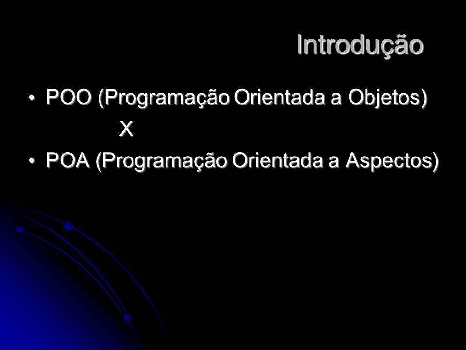 POO (Programação Orientada a Objetos) POO (Programação Orientada a Objetos)X POA (Programação Orientada a Aspectos) POA (Programação Orientada a Aspectos) Introdução Introdução