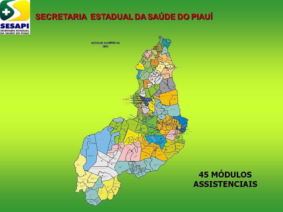 45 MÓDULOS ASSISTENCIAIS SECRETARIA ESTADUAL DA SAÚDE DO PIAUÍ