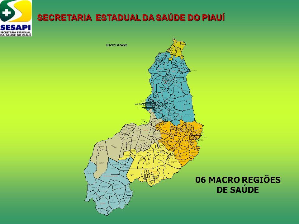 06 MACRO REGIÕES DE SAÚDE SECRETARIA ESTADUAL DA SAÚDE DO PIAUÍ