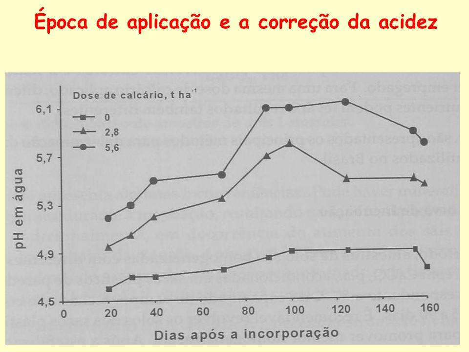 Época de aplicação e a correção da acidez