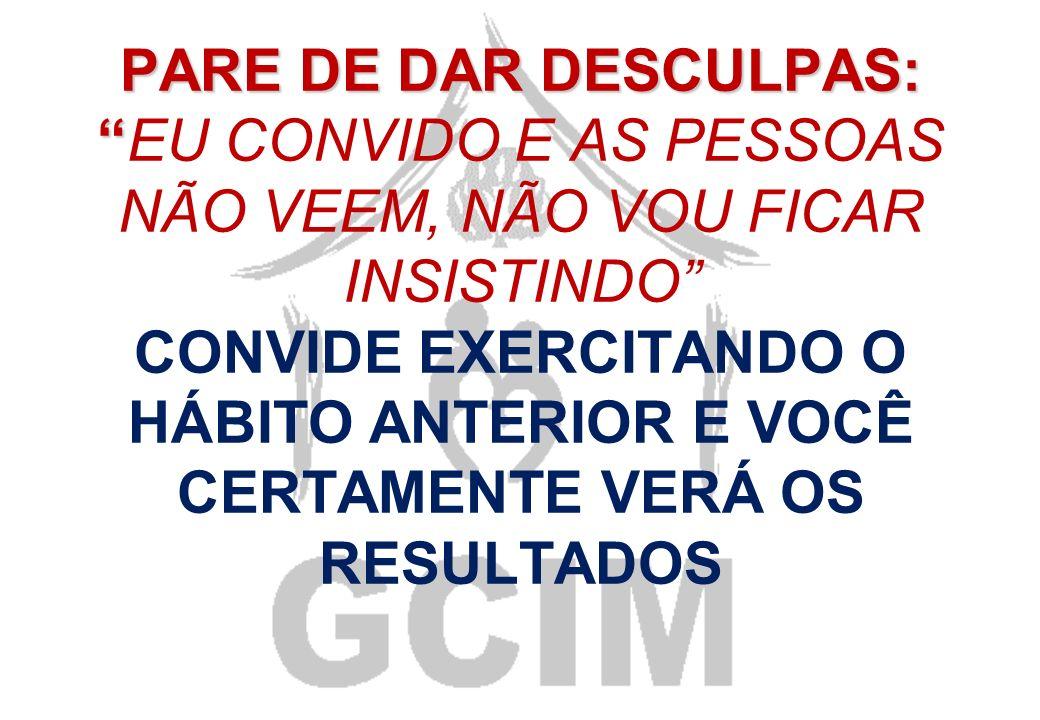 Terceiro Hábito CONVITEConvide Semanalmente Pessoas Novas Para Visitar O Grupo(GCIM)