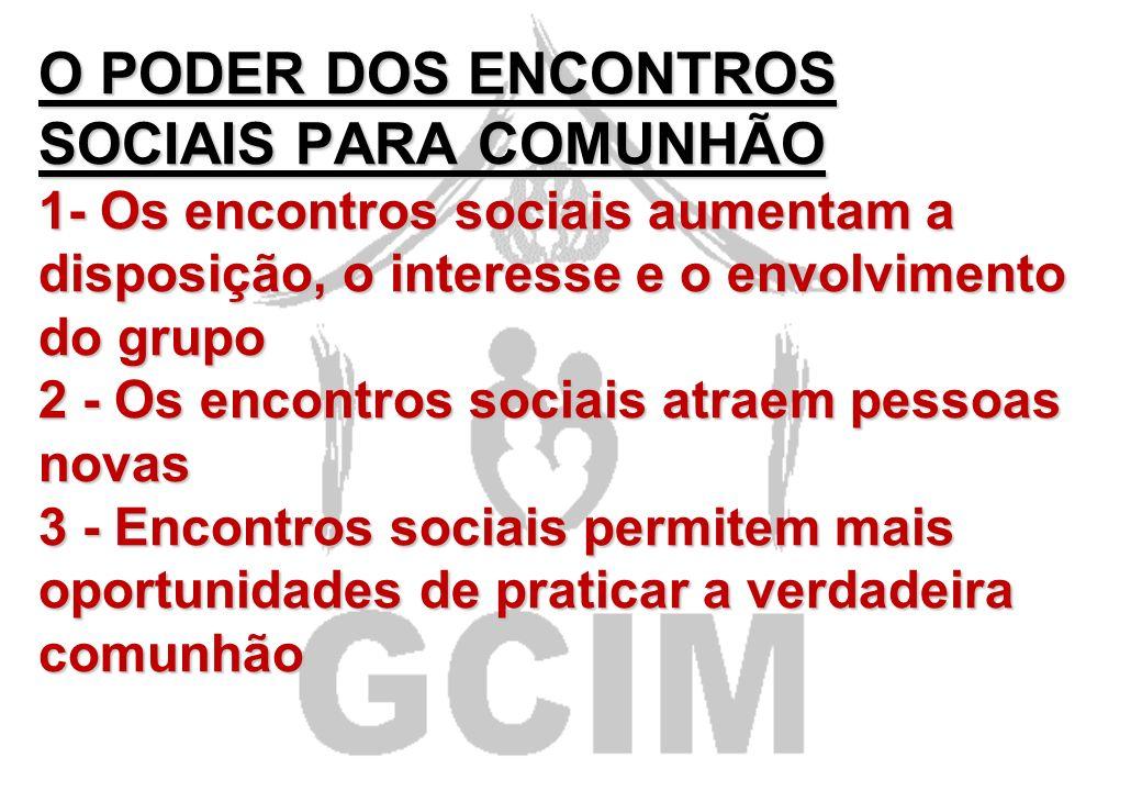 SÉTIMO HÁBITO COMUNHÃO SÉTIMO HÁBITO COMUNHÃO Planeje atividades de comunhão do grupo