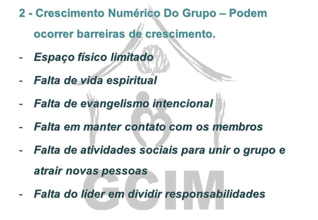 Três sonhos de um grupo pequeno altamente eficaz 1 – Saúde espiritual do grupo – podem acontecer barreiras para que o grupo tenha saúde espiritual. -O