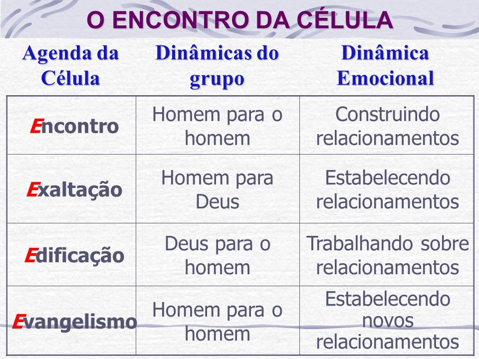 PRINCÍPIOS DA CÉLULA Para o bom funcionamento da célula, é preciso seguir alguns princípios básicos. Ver princípios na página 26 da apostila.