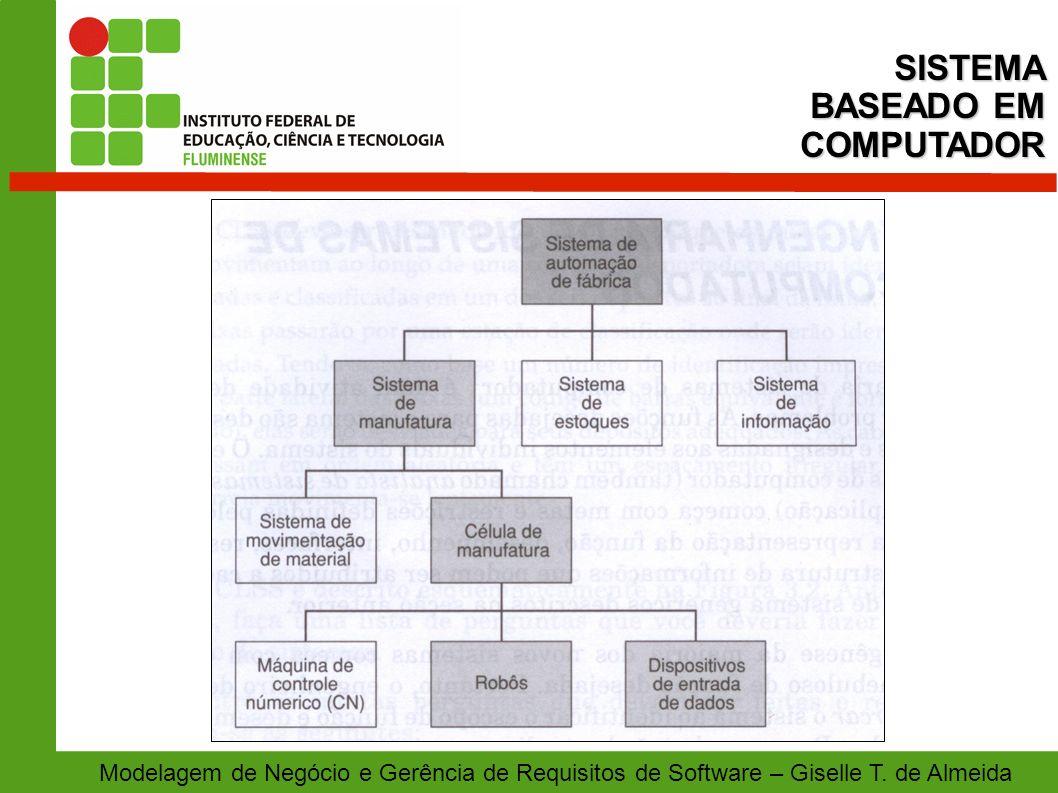 Modelagem de Negócio e Gerência de Requisitos de Software – Giselle T. de AlmeidaSISTEMA BASEADO EM COMPUTADOR