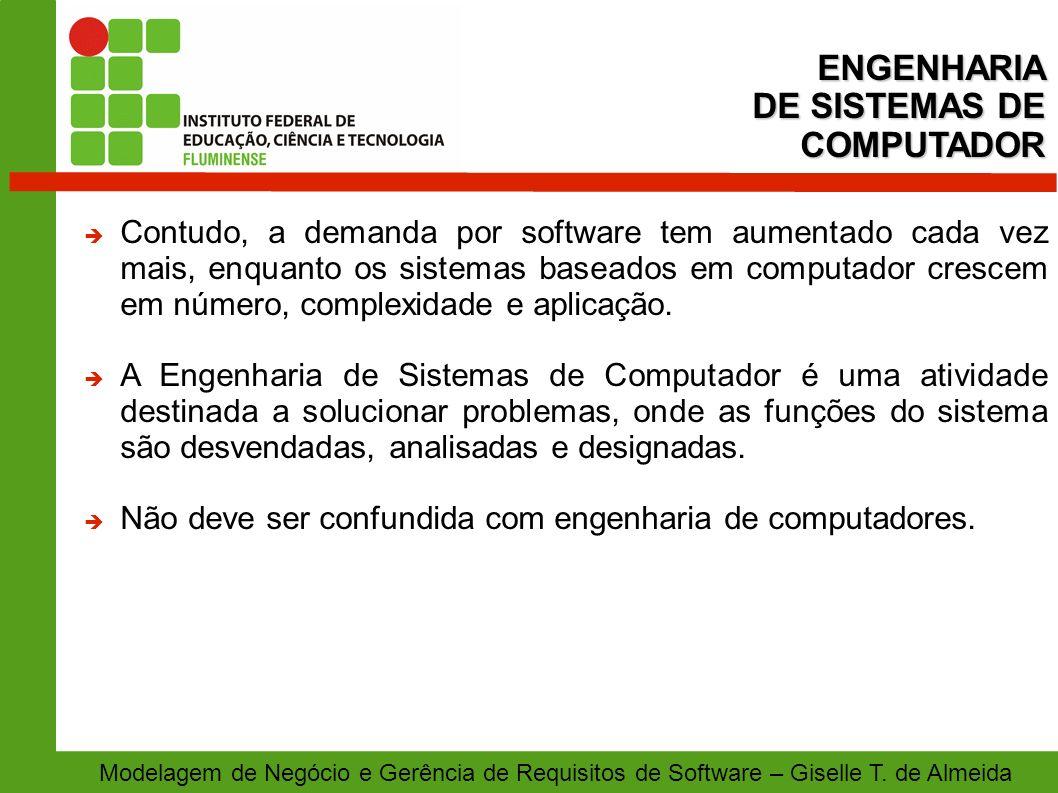 Modelagem de Negócio e Gerência de Requisitos de Software – Giselle T. de Almeida Contudo, a demanda por software tem aumentado cada vez mais, enquant