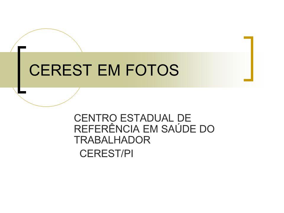 CEREST EM FOTOS CENTRO ESTADUAL DE REFERÊNCIA EM SAÚDE DO TRABALHADOR CEREST/PI