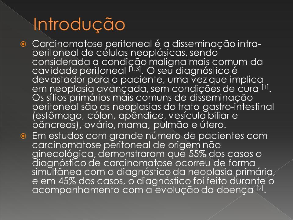 Carcinomatose peritoneal é a disseminação intra- peritoneal de células neoplásicas, sendo considerada a condição maligna mais comum da cavidade perito