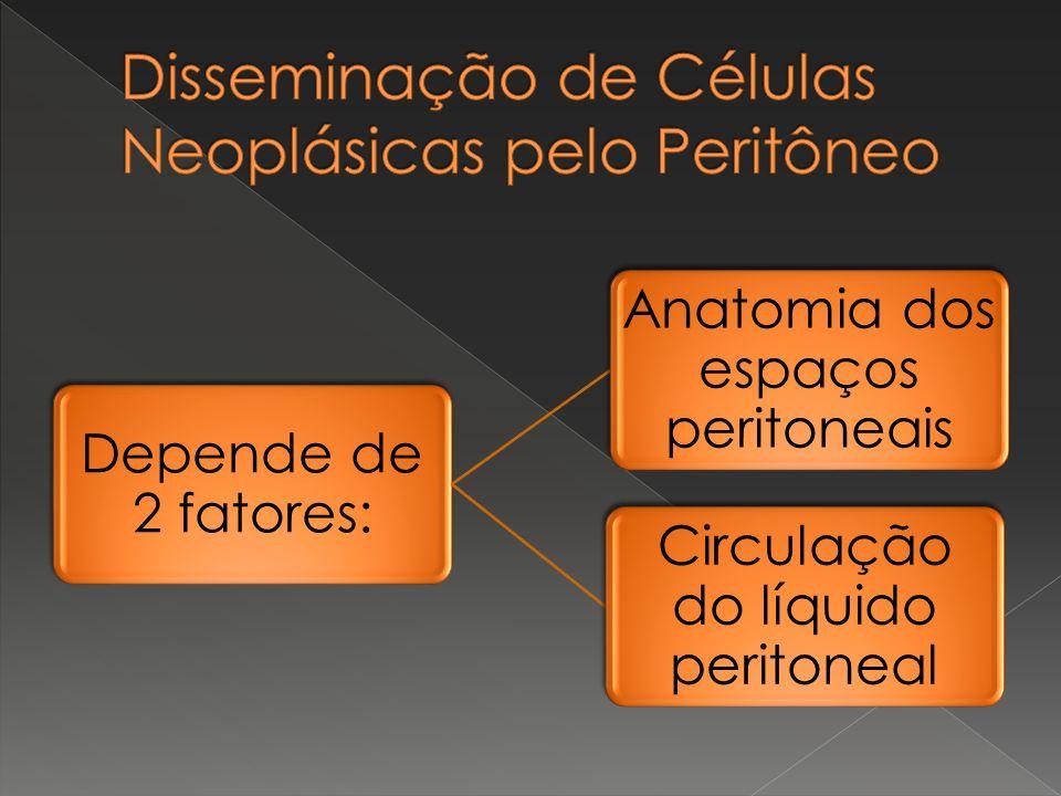 Depende de 2 fatores: Anatomia dos espaços peritoneais Circulação do líquido peritoneal