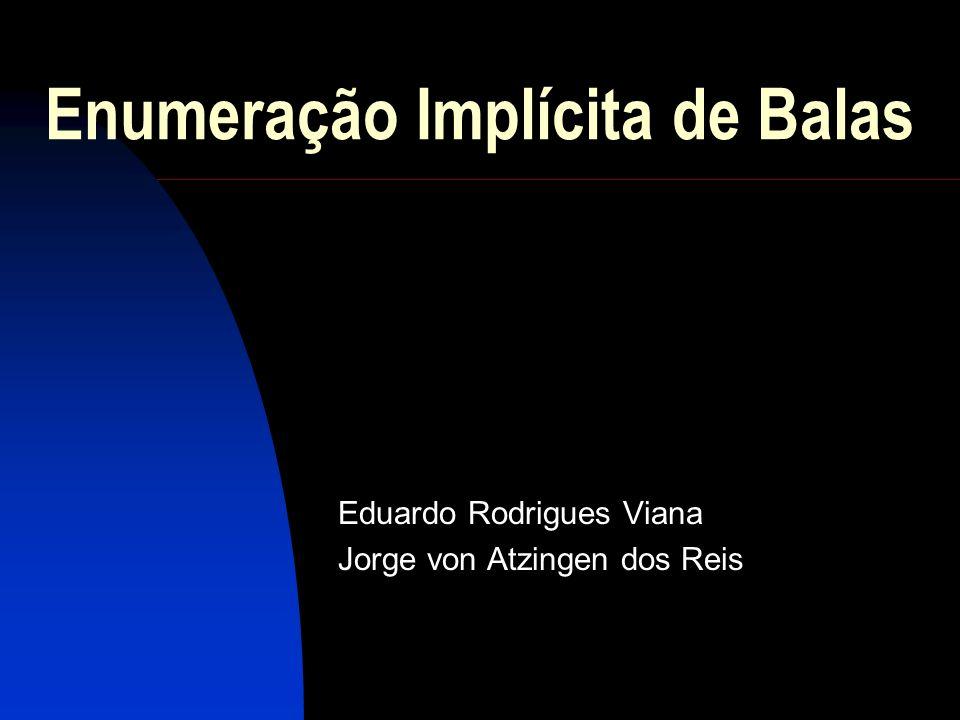 Enumeração Implícita de Balas Eduardo Rodrigues Viana Jorge von Atzingen dos Reis