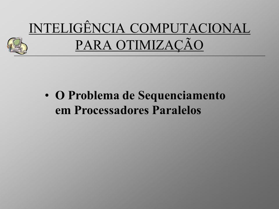 O Problema de Sequenciamento em Processadores Paralelos INTELIGÊNCIA COMPUTACIONAL PARA OTIMIZAÇÃO