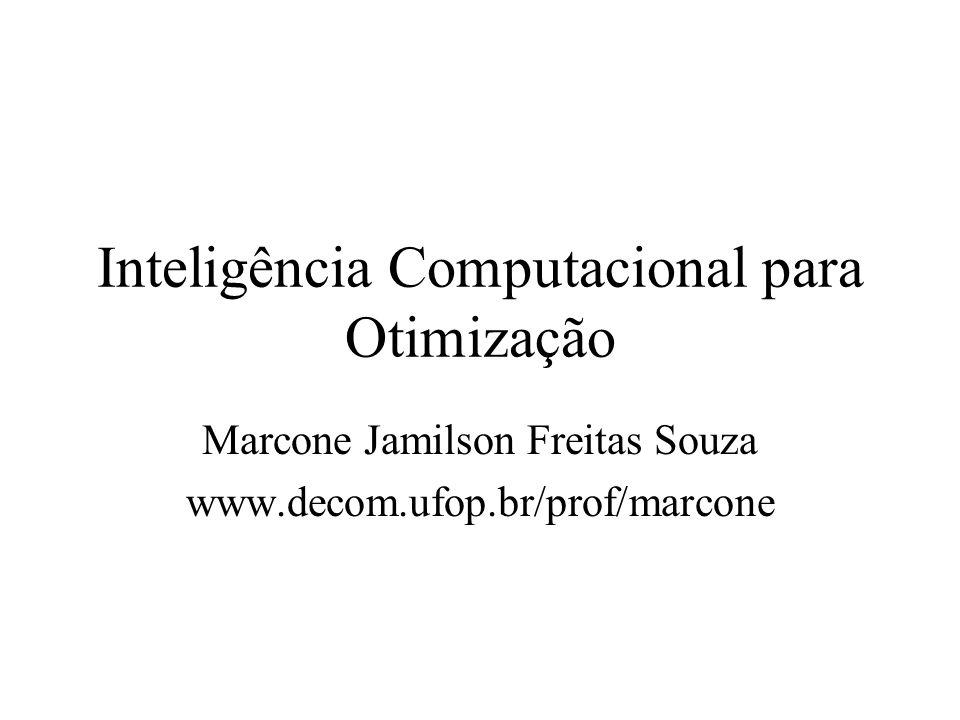 Inteligência Computacional para Otimização Marcone Jamilson Freitas Souza www.decom.ufop.br/prof/marcone