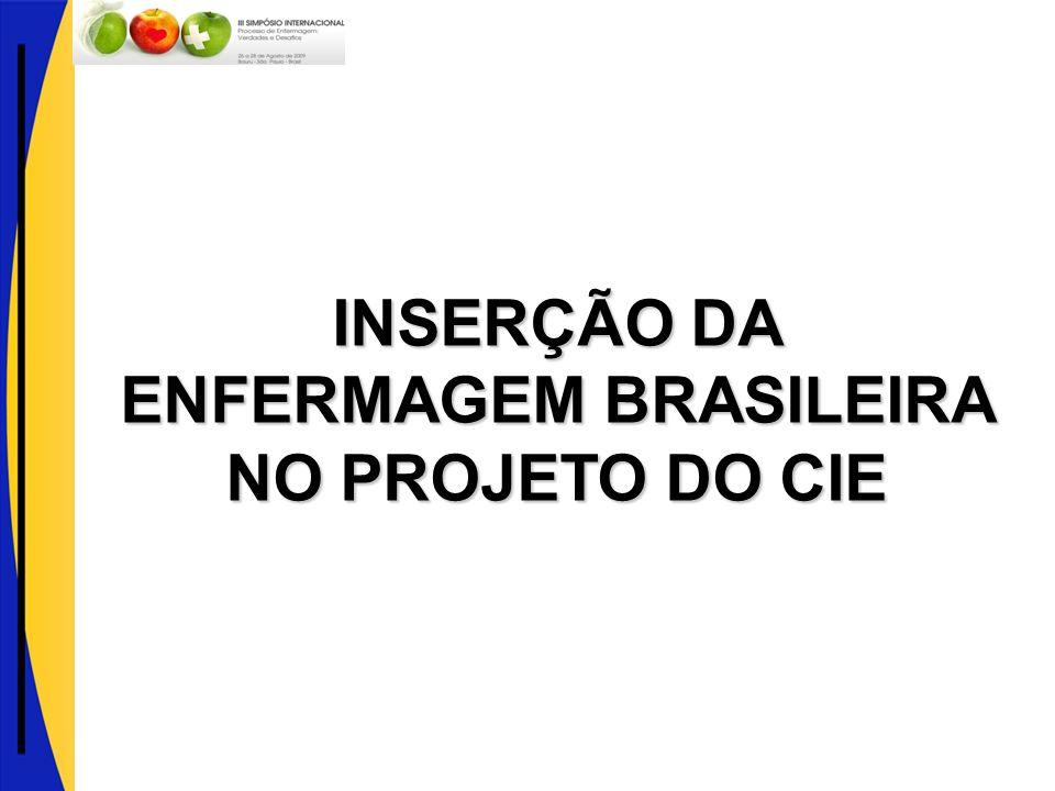 INSERÇÃO DA ENFERMAGEM BRASILEIRA NO PROJETO DO CIE