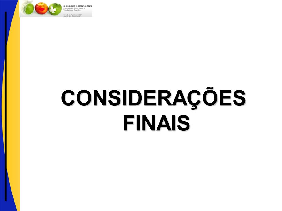 CONSIDERAÇÕES FINAIS FINAIS