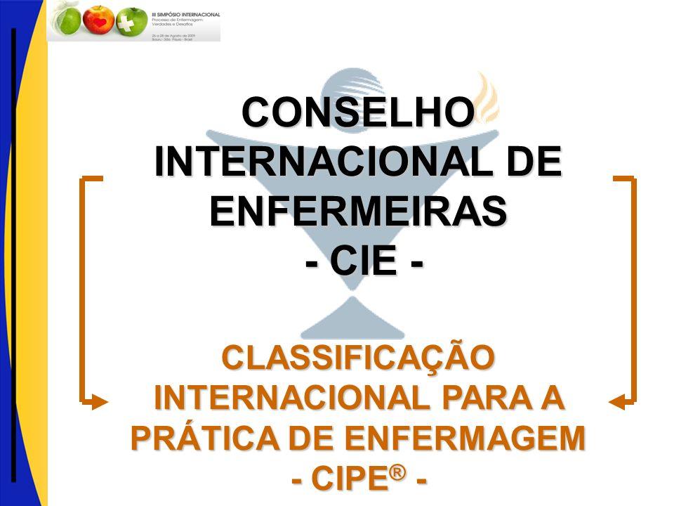 CONSELHO INTERNACIONAL DE ENFERMEIRAS - CIE - - CIE - CLASSIFICAÇÃO INTERNACIONAL PARA A PRÁTICA DE ENFERMAGEM - CIPE ® -