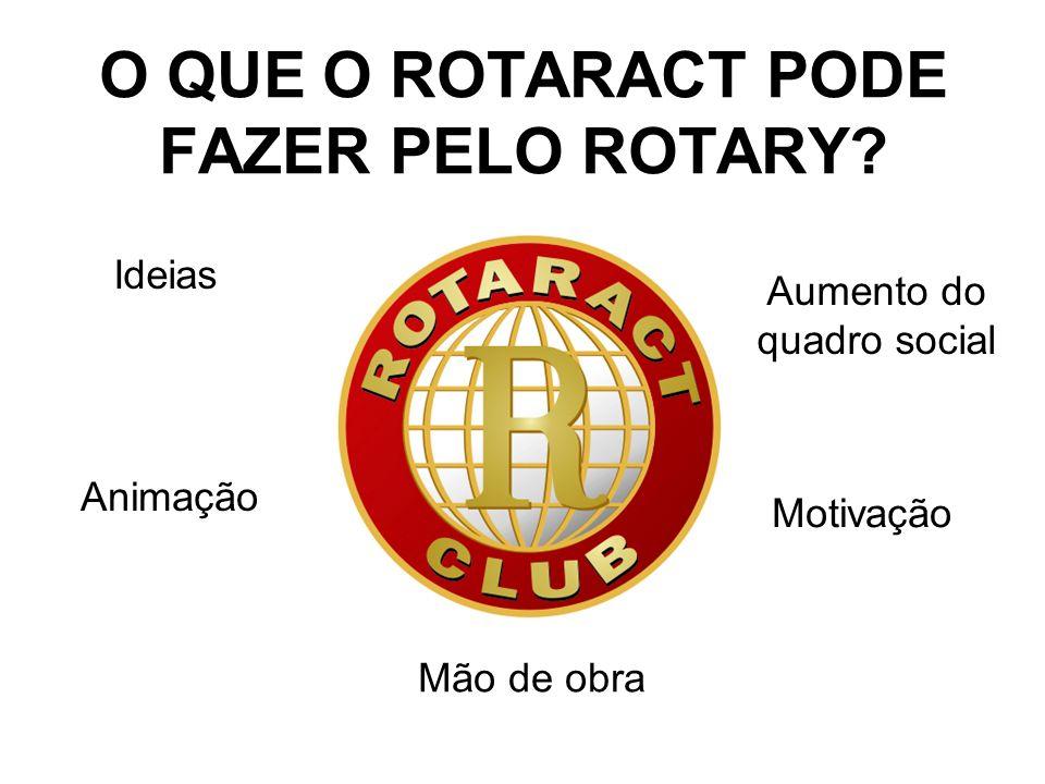 O QUE O ROTARACT PODE FAZER PELO ROTARY.