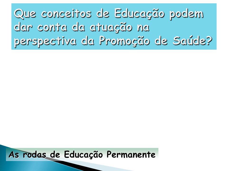 As rodas de Educação Permanente