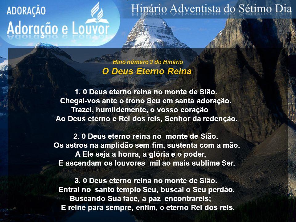Hino número 4 do Hinário Louvor ao Trino Deus 1.
